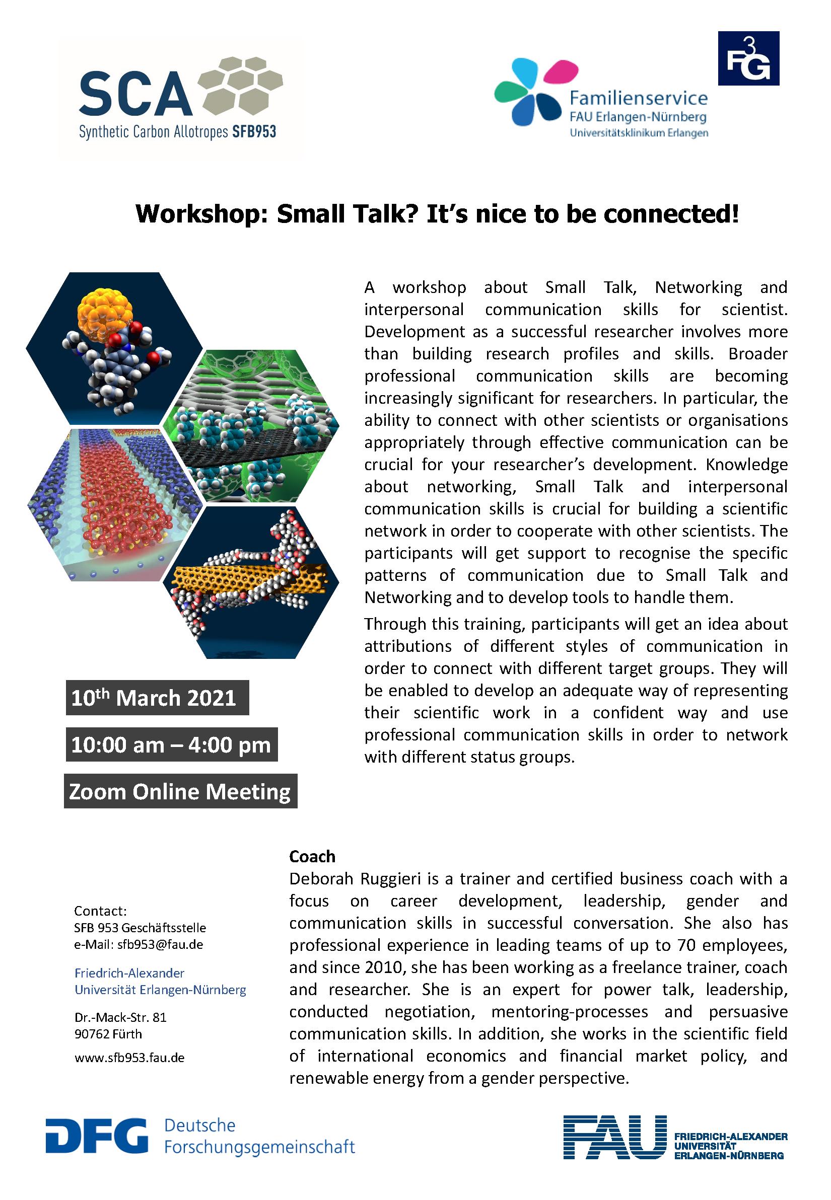"""Poster """"Workshop: Small Talk"""""""