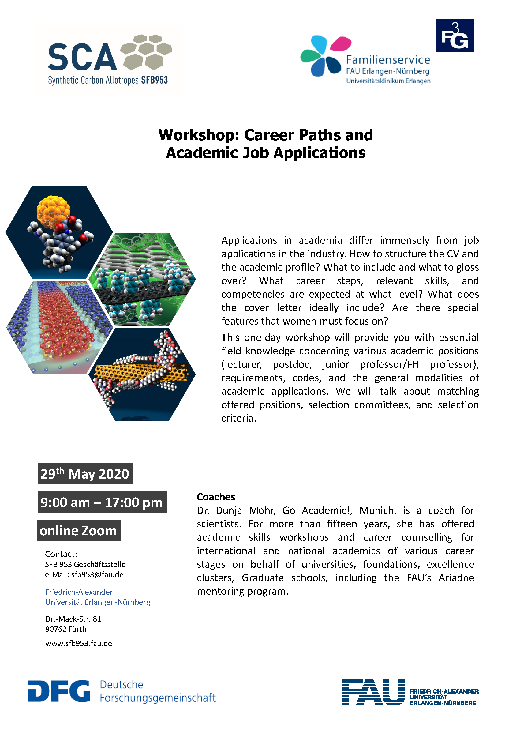 "Poster ""Workshop: Career Paths and Academic Job Applications"""