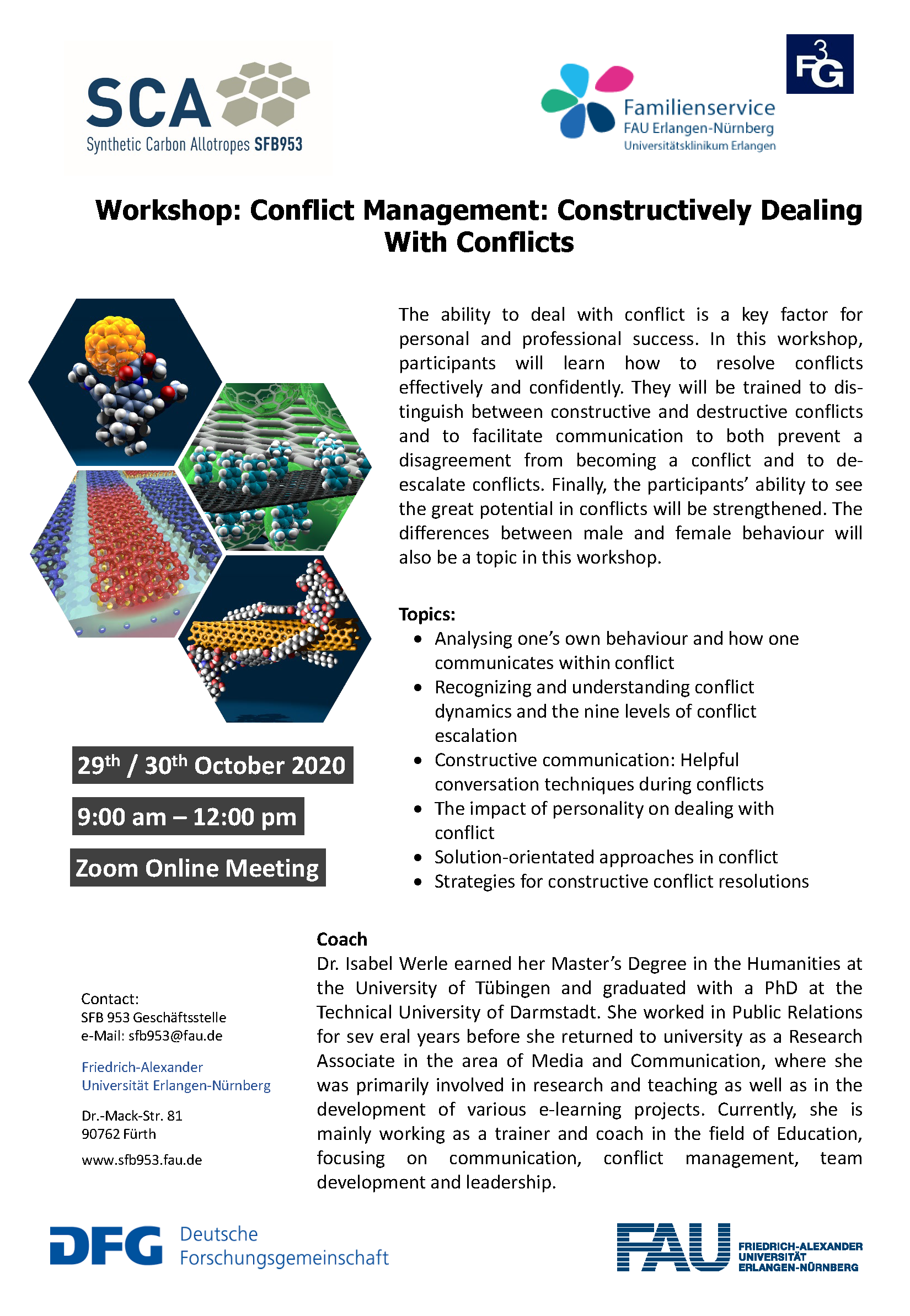 "Poster ""Workshop: Conflict Management"""