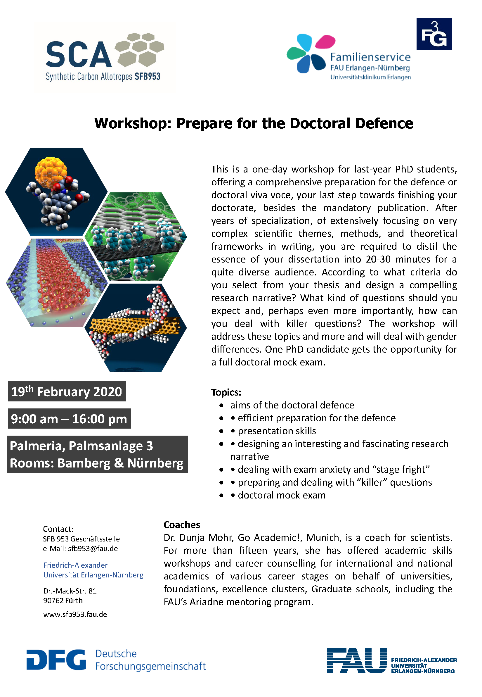 "Poster ""Workshop: Prepare for the Doctoral Defence"""