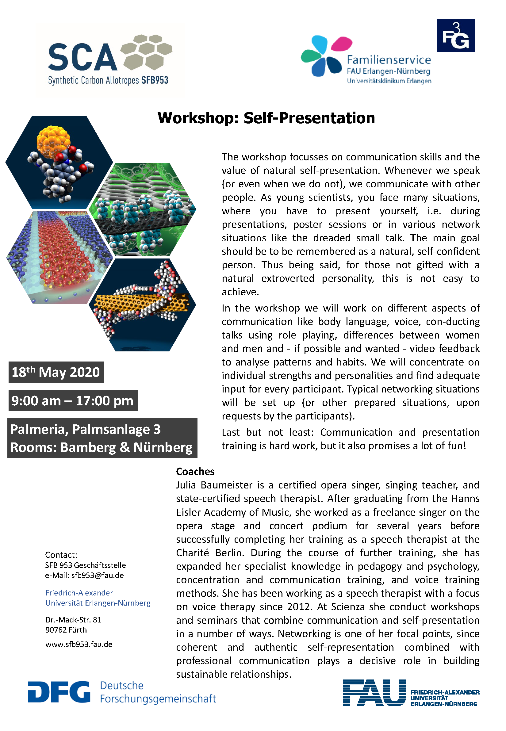 "Poster ""Workshop: Self Presentation"""