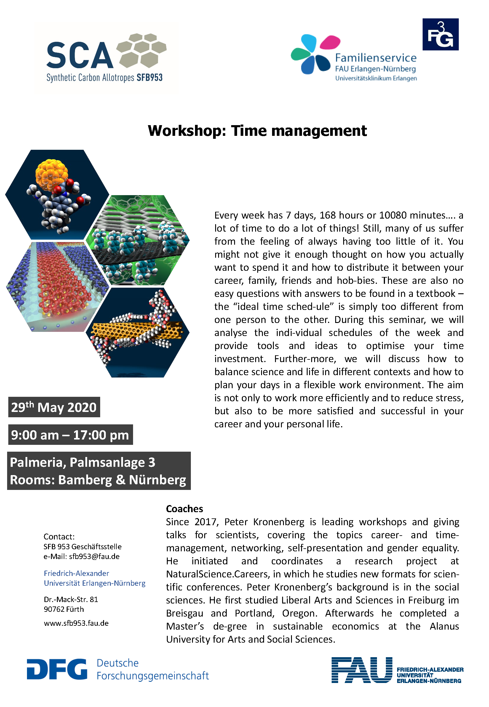 "Poster ""Workshop: Time Management"""