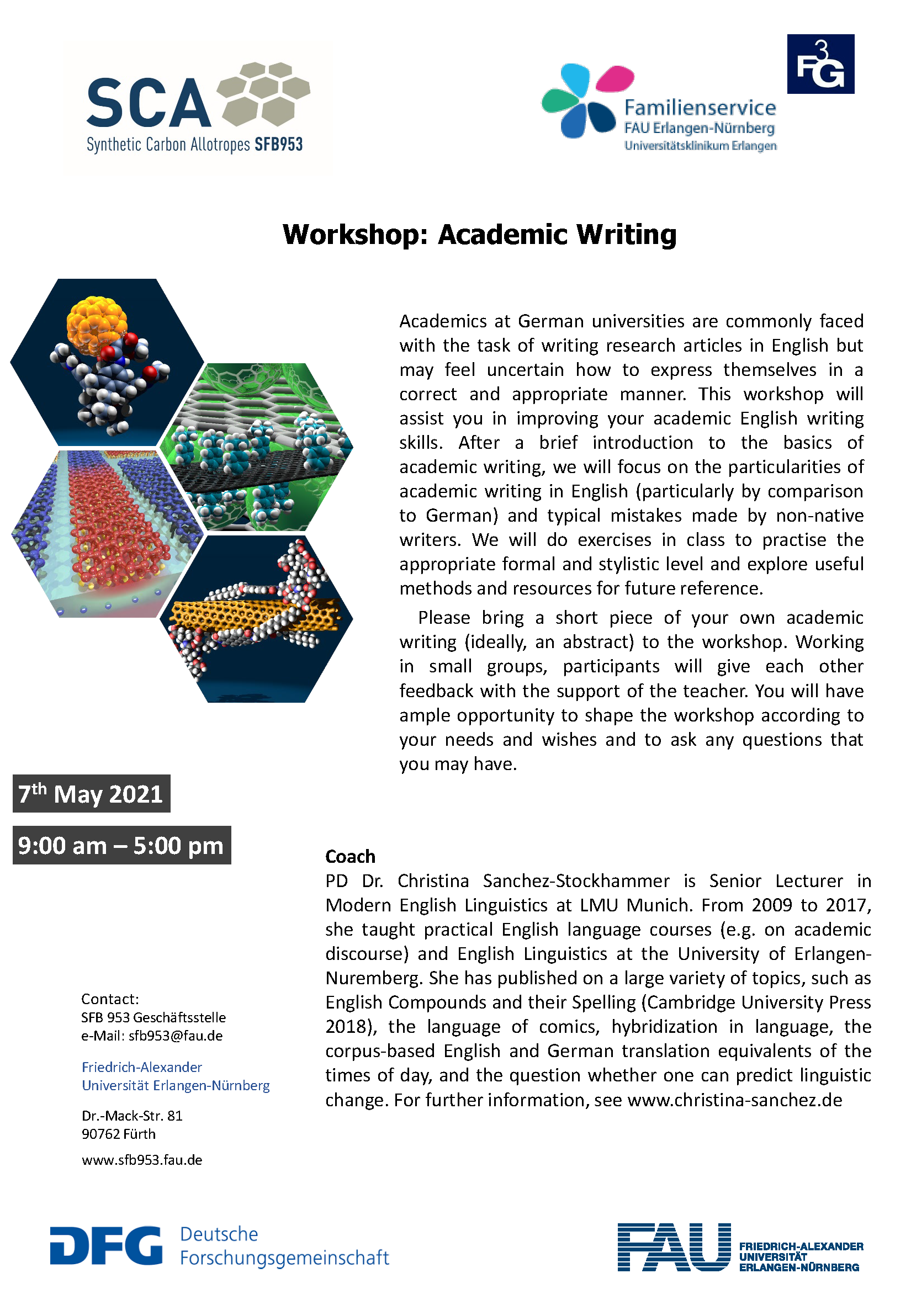 "Poster ""Workshop: Academic Writing"""