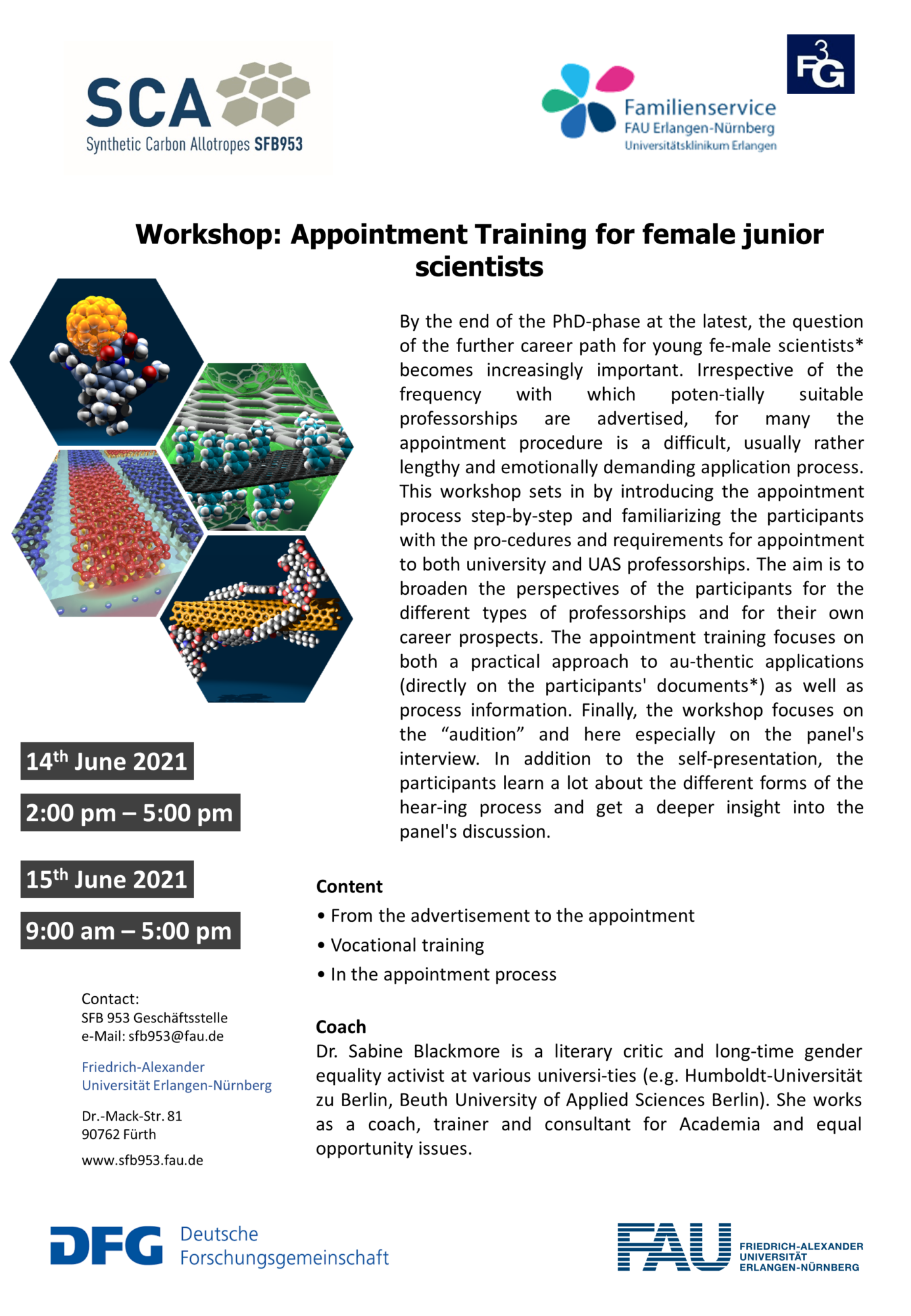 """Poster """"Workshop: Appointment Training;"""